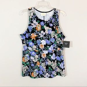 "Maeve for ANTHRO • ""Brenner"" Floral Tank Large"